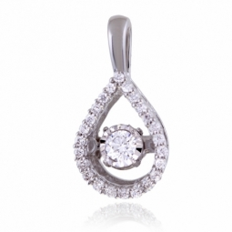 Pendentif en or gris et diamants
