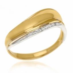 Bague en or deux ors et diamants