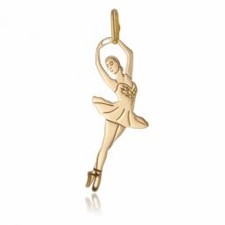 Pendentif en or jaune, danseuse