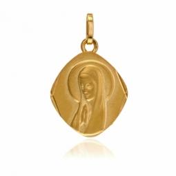 Médaille en or jaune, vierge