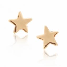 Boucles d'oreilles en or jaune, étoile