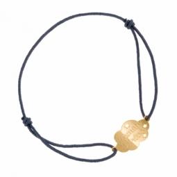 Bracelet en or jaune sur cordon, maman de rêve