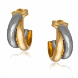 Boucles d'oreilles deux ors