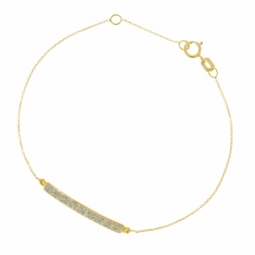 Bracelet en or jaune et laque pailletée