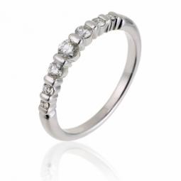 demi alliance serti barrettes or gris diamants