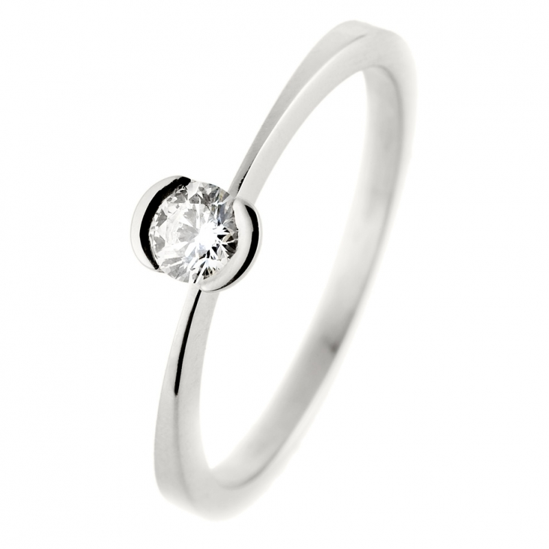 bague solitaire diamant clos