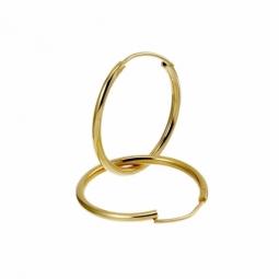 Créoles en plaqué or, fil 15/10 et diamètre 20 mm