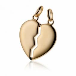 Pendentif coeur sécable en plaqué or
