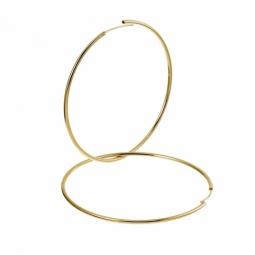 Créoles en plaqué or, fil 15/10 et diamètre 60 mm