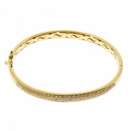 Bracelet jonc en or jaune, diamants