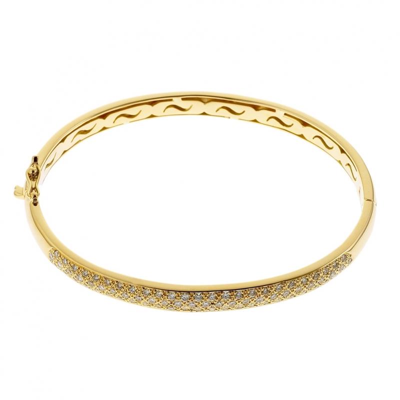 couleurs délicates belle qualité meilleur service Achat Bracelet jonc en or jaune, diamants : Longueur - PM ...