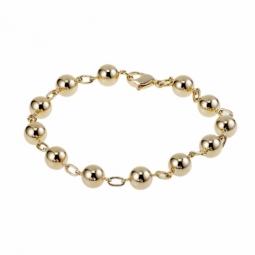 Bracelet en plaqué or, maille boules