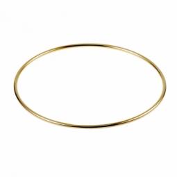 Bracelet jonc en plaqué or, fil rond