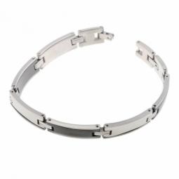 Bracelet en acier et céramique noire