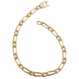 Bracelet en plaqué or, maille cheval alternée 1-1