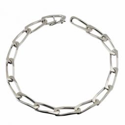 Bracelet en argent rhodié maille cheval