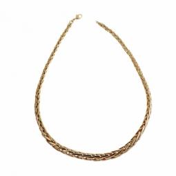 Collier en plaqué or maille palmier chutée
