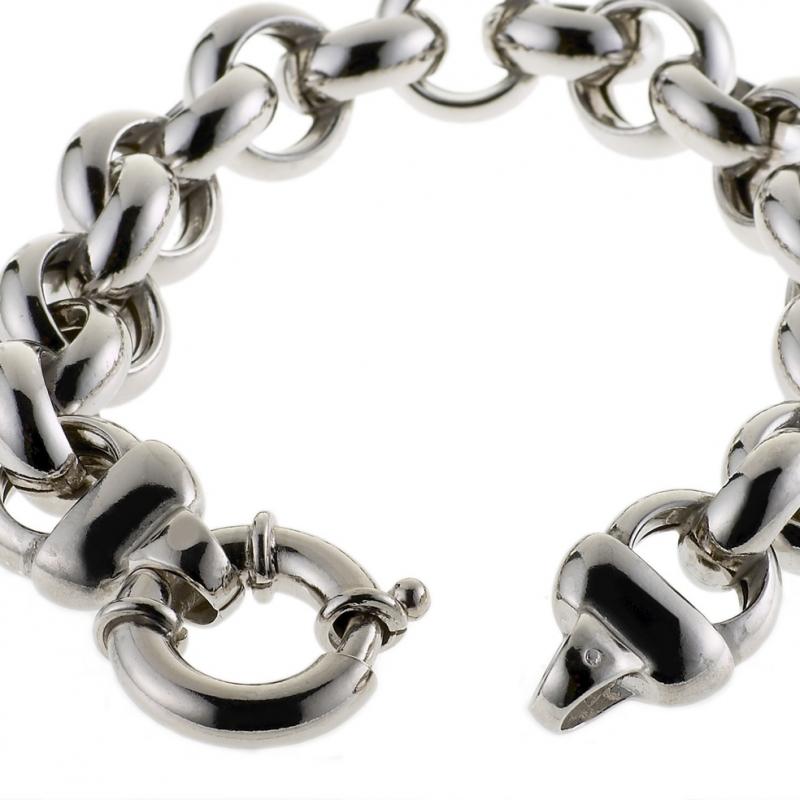 bracelet argent maille jaseron