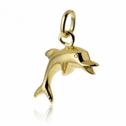 Pendentif dauphin en plaqué or