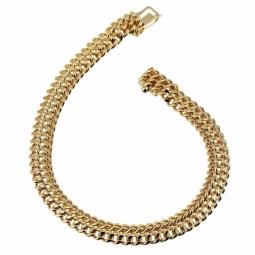 Bracelet en plaqué or, maille russe