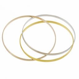 Bracelet jonc en plaqué or, 3 couleurs