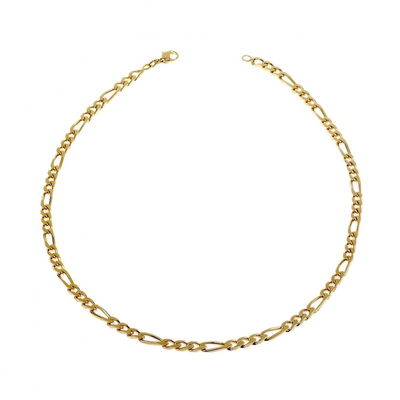 collier maille or manège à bijoux