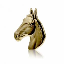 Pendentif  tête de cheval en plaqué or,