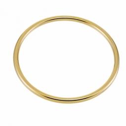 Bracelet en plaqué or, jonc rigide