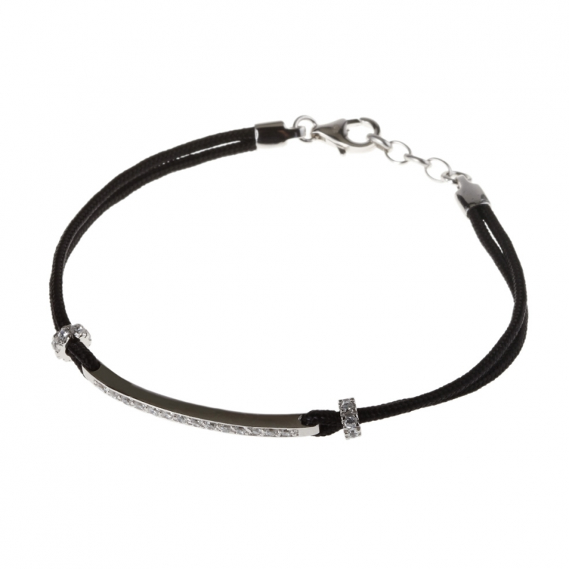 bracelet argent noir femme