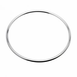 Bracelet jonc en argent rhodié fil rond 3,5 mm