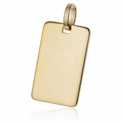 Pendentif  plaque (moyen modèle) en plaqué or