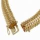 Bracelet en plaqué or, maille russe - C