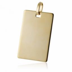 Pendentif  plaque (grand modèle) en plaqué or