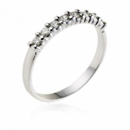 demi alliance serti 4 griffes or gris diamants