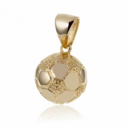 Pendentif  ballon de foot en plaqué or