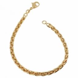 Bracelet en plaqué or, maille palmier