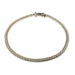 Bracelet en or gris, rivière de diamants (moyen modèle)