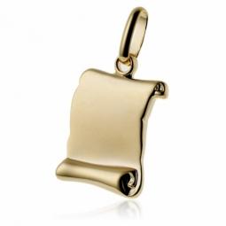 Pendentif parchemin (grand modèle) en plaqué or