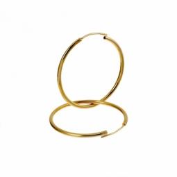 Créoles en plaqué or, fil 15/10 et diamètre 30 mm