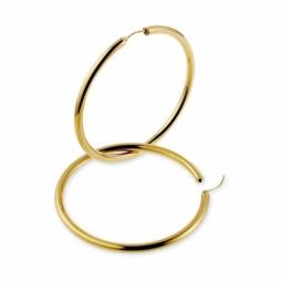 Créoles en or jaune, diamètre 60 mm