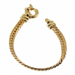 Bracelet en plaqué or, maille anglaise fermoir bouée