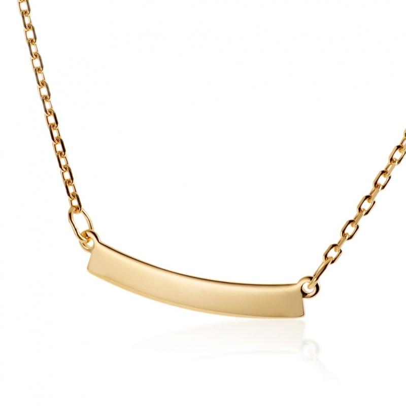 grandes variétés vente chaude vente à bas prix Achat Collier en plaqué or avec plaque à graver petit modèle ...