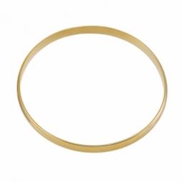 Bracelet rigide en plaqué or, demi jonc