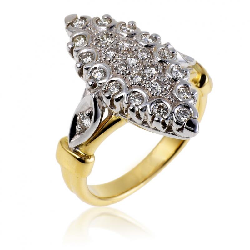 chevaliere or blanc manege a bijoux