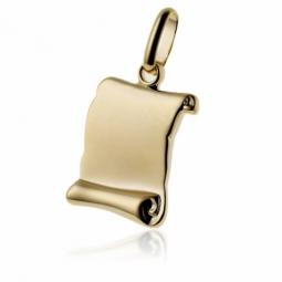 Pendentif parchemin (petit modèle) en plaqué or