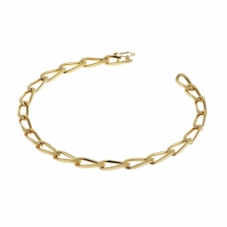 Bracelet en plaqué or, maille cheval