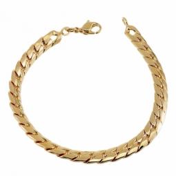Bracelet en plaqué or, maille anglaise