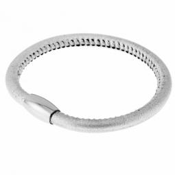 Bracelet en acier et cuir