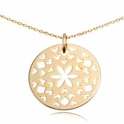 Collier en plaqué or, motifs découpés