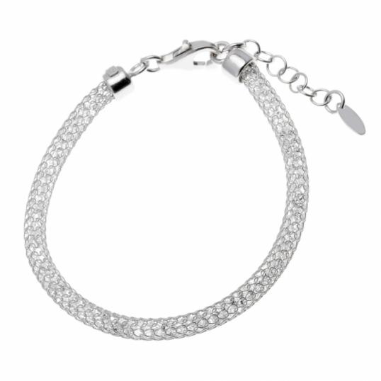 achat bracelet femme argent rhodi 5 1 g le man ge bijoux. Black Bedroom Furniture Sets. Home Design Ideas